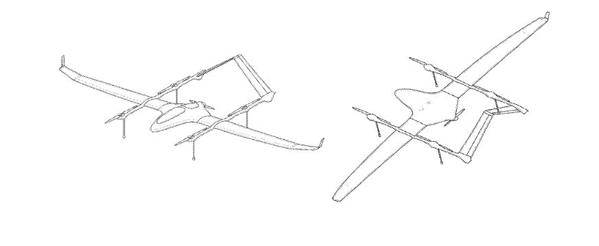 Yuneec patent for multi propellers