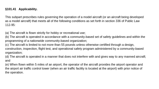 Implicaitons of FAA Reauthorization Act on Hobby Flying and 400 ft rule