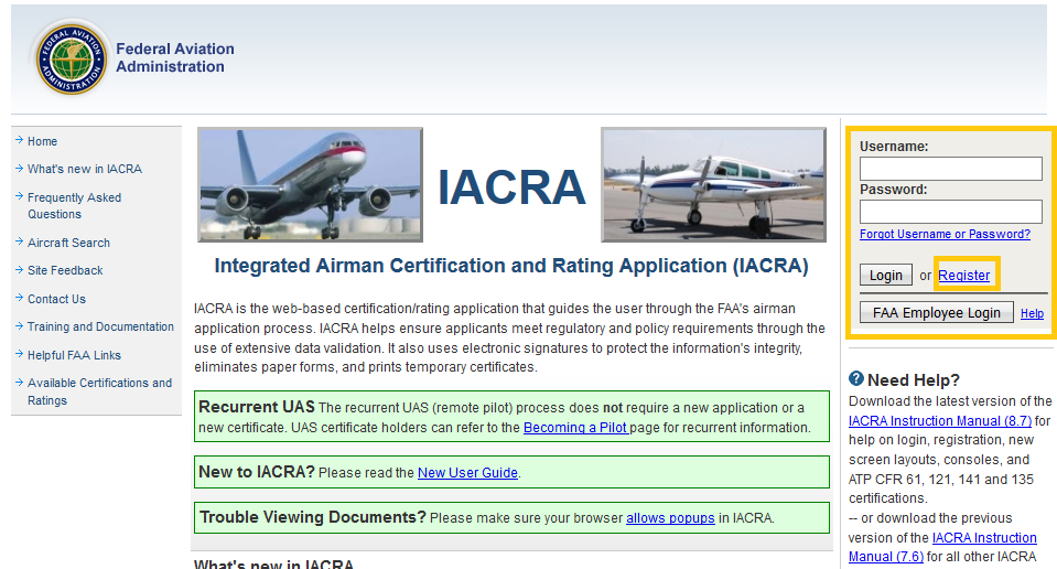 IACRA PART 107 REGISTRATION for getting your drone pilot license
