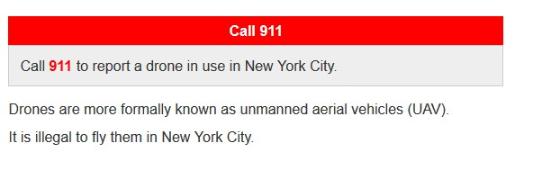 Drone laws in nyc