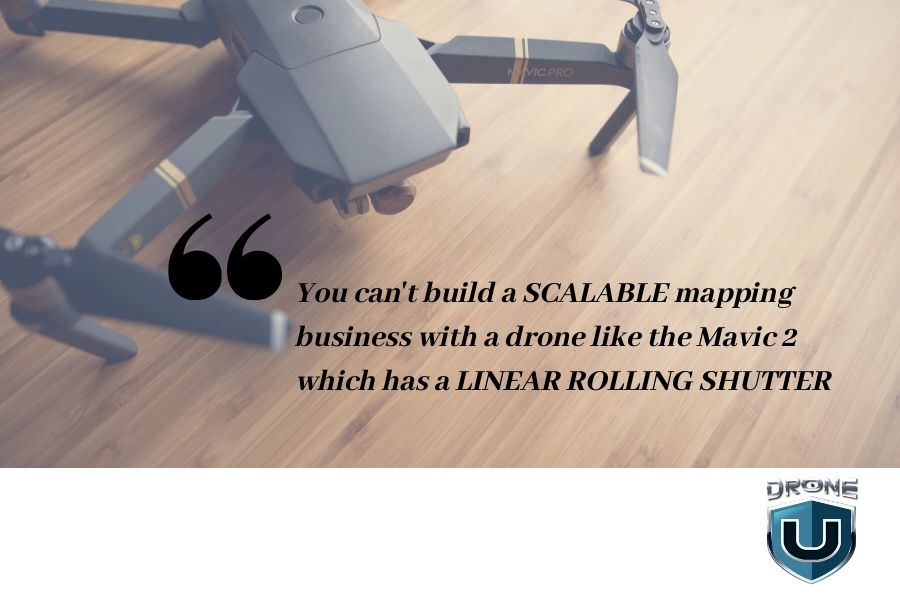 global shutter vs linear rolling shutter for drone mapping