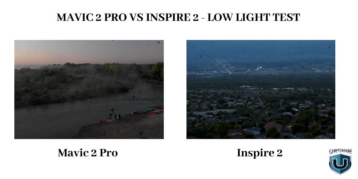 Mavic 2 Pro vs Inspire 2 Low Light Test and DJI Inspire 3