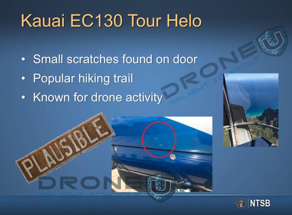 Blue hawaiian helicopter drone crash