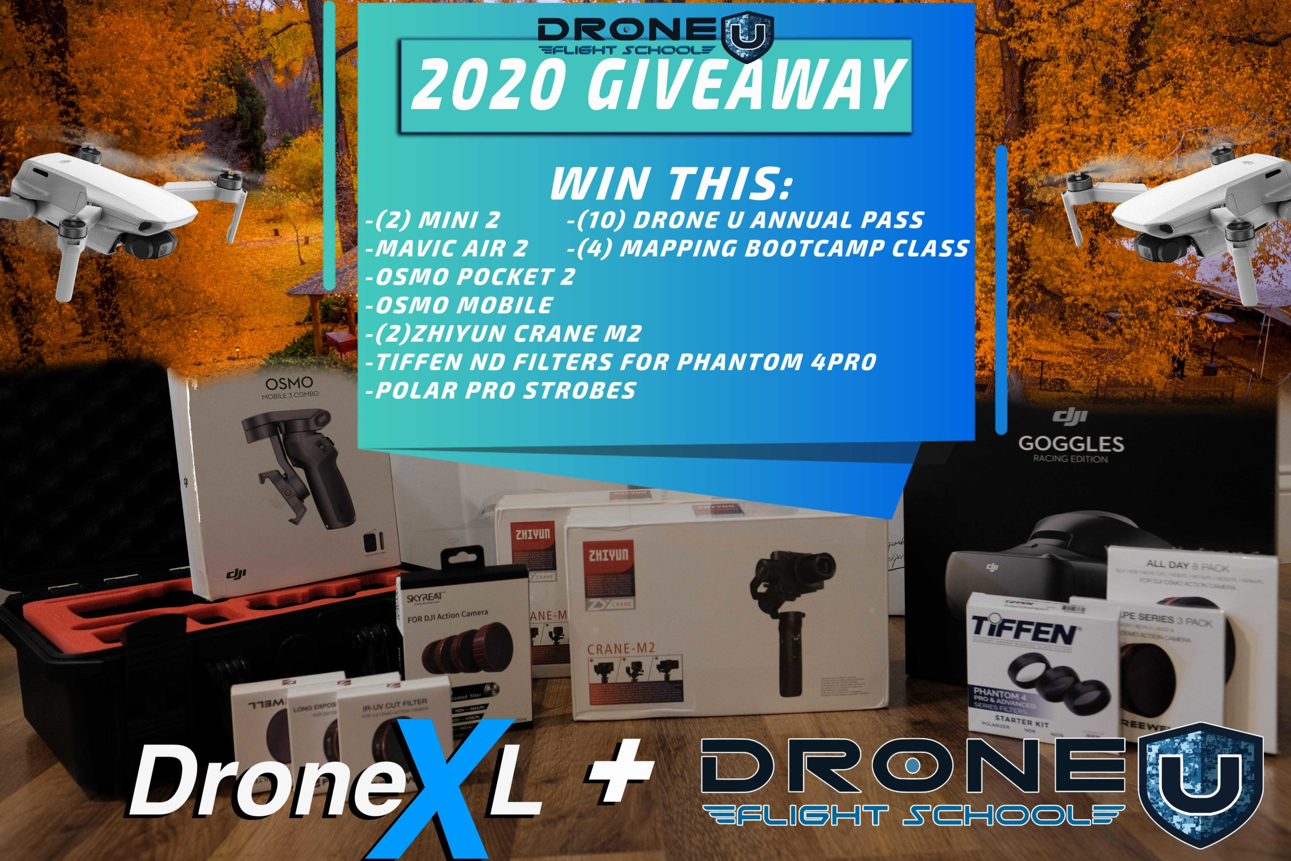 online contests, sweepstakes and giveaways - 2020 Thanksgiving Giveaway by Drone U & Drone XL