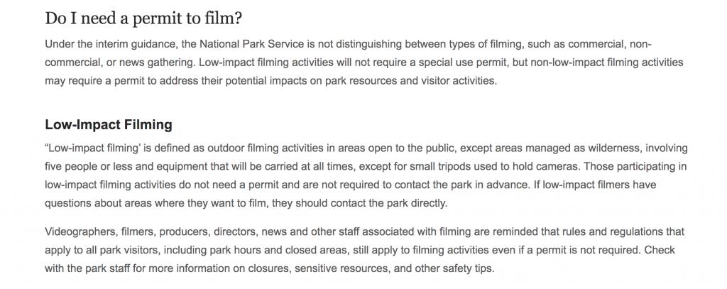 nps drone film permit